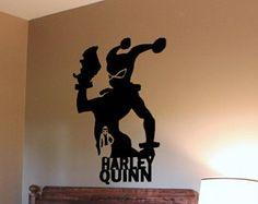 Harley Quinn Silhouette. DC Comics. Removable Interior Wall Decal (Matte Black) Vinyl Wall Art. Home Decor Living Room / Bedroom
