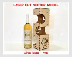 For sale is wine box (Laser cut vector model only). Set of 3 patterns create of plywood mm patterns create of plywood mm patterns create of plywood 4 mm Digital product includes AI, EPS, CDR, SVG, DXF files. Wooden Wine Boxes, Wine Gift Boxes, Box Wine, Cnc, Woodworking Jigs, Woodworking Projects, Plywood Boxes, Laser Cut Files, Dremel