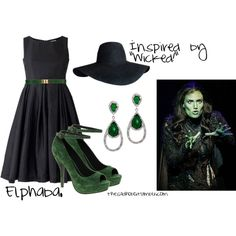 """""""Elphaba inspired fashion"""" by erfquake on Polyvore"""
