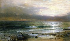 """""""Point Judith,"""" William Trost Richards, 1885, watercolor on paper, 22.81 x 37"""", private collection."""