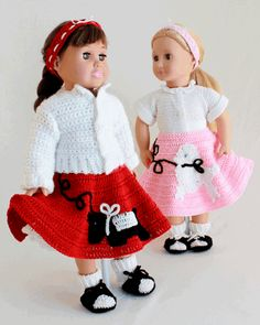 """18"""" Doll At The Hop Crochet Pattern"""