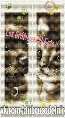 Bonitos gráficos de marcapaginas de un perro y un gato...
