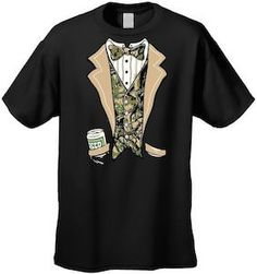 Redneck Camouflage Tuxedo T-Shirt.