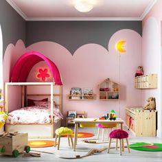 IKEA offers a wide range of toddler beds & kid's beds for your growing child. Shop IKEA instore or online today! Ikea Kids, Ikea Children, Ideas Habitaciones, Ideas Dormitorios, Pine Beds, Living Room Mirrors, Mirror Bedroom, Little Girl Rooms, White Bedding