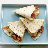 5 ingredient meal: fruit&brie quesadillas