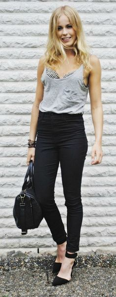 I want the bra - looks good with simple pieces but you gotta have killer heels!