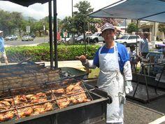 BBQ with Aloha: Huli-Huli Chicken using a Pit Barrel Cooker - Dr Abalone Chicken Cooker, Bbq Chicken, Open Pit Bbq Sauce, Gai Yang, Bbq Stand, Huli Huli Chicken, Pit Barrel Cooker, Rotisserie Grill, Hawaiian Bbq