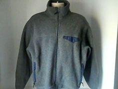LL Bean Mens Vintage L Gray Fleece Jacket Coat USA #Vintage #FleeceJacket