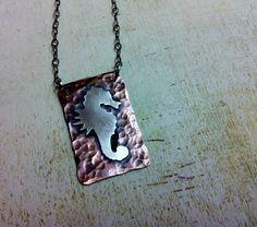 Sterling Silver Sea Horse Necklace by Arrok, $72.00