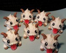 Cute Kawaii Poro League of Legends Braum poros figurine sculpture resin