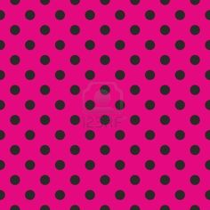 Seamless pop art abstract pattern or texture with neon pink polka dots on black background. For web design, wallpaper, blog, documents template. Stock Photo