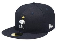 Navy Snoopy Woodstock 59Fifty Fitted Cap