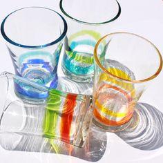 RYUKYU GLASS- colorful, handmade, glass, from Okinawa. People drink often AWAMORI with this.