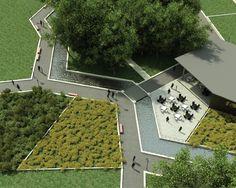 Caminos Rectos + Jardines Trapezoidales