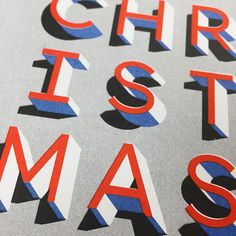 CHRISTMAS - Typographic risograph Christmas card by Jot Paper Co.