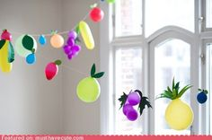 Balloon Fruit Garland
