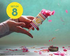 Confetti PushPop Revealers for Gender Reveal by genderreveal, $28.00