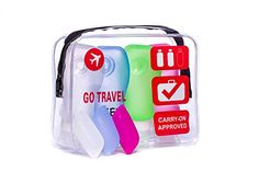 TSA Approved Airline Clear Travel Toiletry Bag transparent Quart for men women