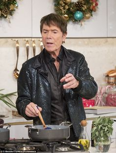 Wacky for Teriyaki! Sir Cliff Richard, 76, swapped singing for cooking on Thursday's This Morning, leaving viewers bemused as he made his special gravy