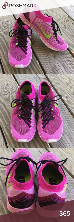 🆕Nike Free Flyknit 3.0 Running Sneakers Nike Free Flyknit 3.0 Running Sneakers in purple and lime. Super light and comfortable. Size 8. In great preloved condition. Minor wear on outsoles, but that's it. Feel like socks on your feet. Beautiful colors. ❌NO TRADES❌NO LOWBALLING❌NO MODELING❌ Nike Shoes Athletic Shoes