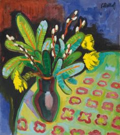 View Osterstrauss by Karl Schmidt-Rottluff on artnet. Browse upcoming and past auction lots by Karl Schmidt-Rottluff. Karl Schmidt Rottluff, Ernst Ludwig Kirchner, Vintage Artwork, Art Images, Les Oeuvres, Flower Art, Oil On Canvas, Dresden, Art Lessons