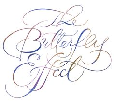 Butterfly Modern Spencerian Script ~ Iskra Design