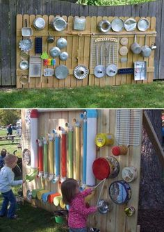 backyard patio designs Some Nice DIY Kids Playground Ideas for Your Backyard Nette DIY Kinderspielplatz-Ideen fr Hinterhof 47 Outdoor Play Spaces, Kids Outdoor Play, Kids Play Area, Backyard For Kids, Diy For Kids, Garden Kids, Outdoor Fun, Backyard Games, Diy Garden Ideas For Kids