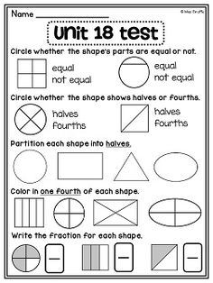 Fraction worksheets perfect for 1st grade