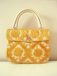 Flocked damask Vintage bag. so much character and elegance.  Absolute fave!