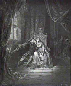 Paolo Kissing Francesca | Doré 1882-3.