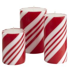 Peppermint Creme Pillar Candles - you've gotta have a little whimsy :)