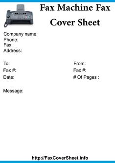 Fax Cover Template Word How To Make A Fax Machine Fax Cover Sheet  How To Make A Fax .