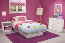 Kids Bedroom Furniture Set in Pure White