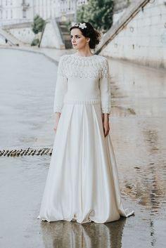 cardigan mariée tricot mariée pull mariee pull pour la mariée, en laine merinos paulette, accessoire de mariage