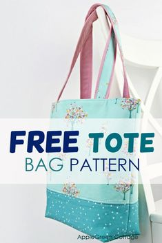 Quilted Tote Bags, Diy Tote Bag, Patchwork Bags, Crazy Patchwork, Sew Tote Bags, Reversible Tote Bag, Bag Patterns To Sew, Tote Pattern, Easy Tote Bag Pattern Free