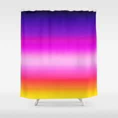 "Stop neglecting bathroom decor - our designer Shower Curtains bring a fresh new feel to an overlooked space. Hookless and extra long, these bathroom curtains feature crisp and colorful prints on the front, with a white reverse side. - One size: 71"" (W) x 74"" (H) - Made in the USA with 100% polyester - 12 buttonhole-top for easy hanging - Machine washable, tumble dry - Rod, curtain liner and hooks not included Custom Shower Curtains, Bathroom Curtains, Sunrise Colors, Hooks, Crisp, Colorful, Space, Usa, Prints"