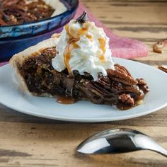 Chocolate and caramel take traditional pecan pie and make it next level good.