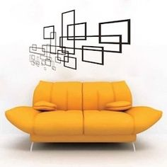 Geometric Slate Wall Decal