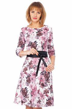 Романтичное платье с поясом Моделлос-321-8 - интернет-магазин Moda-nsk