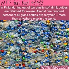 Finland is top bottle recycled country in the world -  WTF fun facts