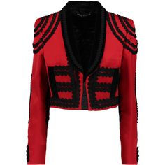 Dolce Gabbana Velvet trimmed silk blend satin jacket ($5,086) ❤ liked on Polyvore featuring outerwear, jackets, slim jacket, cropped jacket, satin jackets, dolce gabbana jacket and slim fit jackets