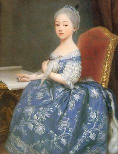 (future) Comtesse de Provence Maria Giuseppina Luigia di Savoia, 1760's by Giuseppe Dupra