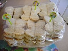 sandwiches for a Tinkerbell birthday party using a butterfly sandwich cutter I found at The Dollar Tree