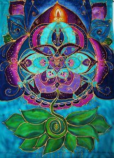 spiritual art Transformation metaphysical by HeavenOnEarthSilks, $175.00