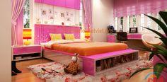 Mẫu thiết kế nội thất phòng ngủ con gái lớn nhà chú Thuyết - Lai Châu