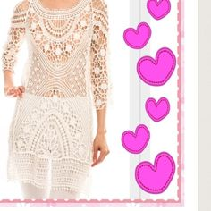 IVORY CROCHET OVERLAY TUNIC - SIZE SMALL Want to turn some heads?  Here's your look; here's your answer, goes with EVERYTHING in your closet.  Wear over a cami, or special bra/bralette, and then select the bottom you want. 100% crochet cotton/knit that fits in just the right places.  That's me peeking behind my iPad ❤️  Size Small    Cold water washing recommended, lay flat to reshape❤️ A Peach Tops Tunics