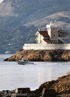 East Brother Lighthouse ~ Point Richmond, California, run as a bed and breakfast Lighthouse Hotel, Point Richmond, San Pablo Bay, Victorian Bed, Northern California, Richmond California, California Usa, Beacon Of Light, Second Empire