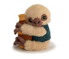 Sloth Amigurumi Crochet Pattern PDF - Artemis the Sloth Astronomer by Patchwork Moose Crochet Amigurumi, Amigurumi Patterns, Knitting Patterns, Crochet Patterns, Amigurumi Toys, Softies, Sewing Patterns, Half Double Crochet, Single Crochet