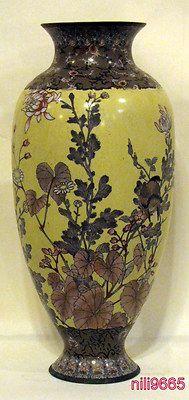 Antique Japanese Vase Cloisonne Made of Enamel Handmade Circa 1900 Delicate Work | eBay
