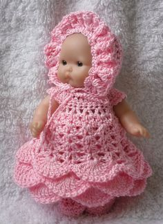 Crochet pattern for Berenguer 5 inch baby doll